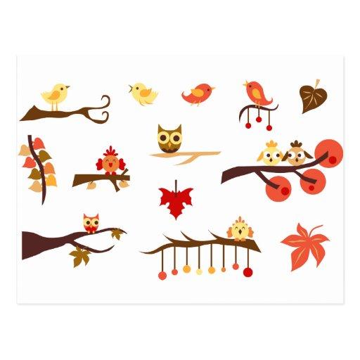 AutumnBranchesAll Tarjetas Postales