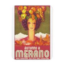 Autumno A Merano Vintage Travel Poster Magnet