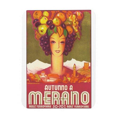 Autumno A Merano Vintage Travel Poster