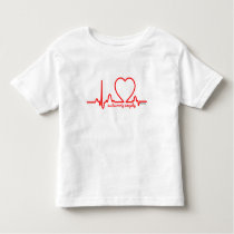 Autumn's Angels Support Heart Disease Heartbeat 4t Toddler T-shirt