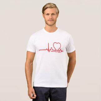 Autumn's Angels Support Heart Disease Heartbeat 72 T-Shirt