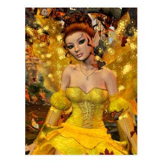 Autumns Dance Fae Fantasy Art Postcard