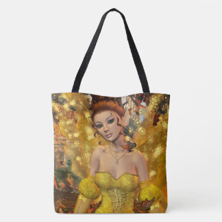 Autumns Dance Fae Fantasy Art Tote Bag
