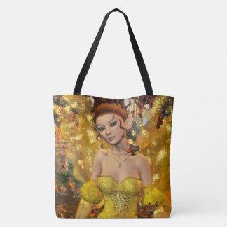 Autumns Dance Fae Fantasy Art Tote Bag