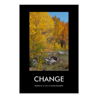 Autumn's Edge Beautiful Change Poster at Zazzle