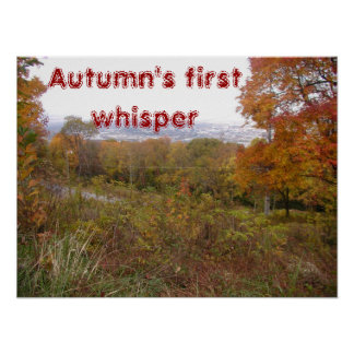 Autumn's first whisper poster