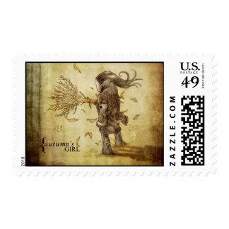 Autumns-girl Stamp
