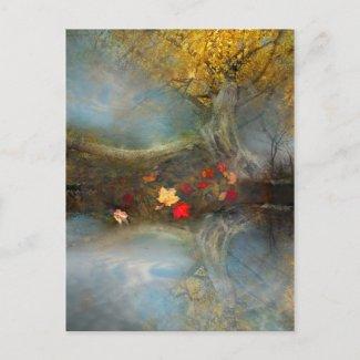Autumns harvest ,postcard postcard