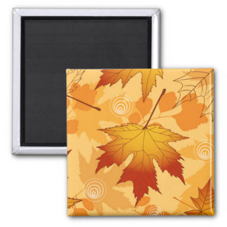 Autumn's Leaves 2 Inch Square Magnet