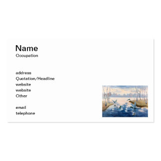 Autumn's Mallards Business Cards
