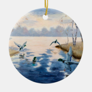 Autumn's Mallards Ornament