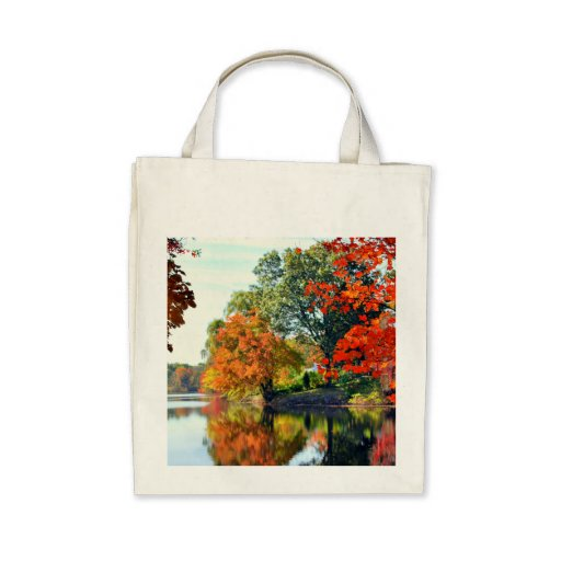 AUTUMN'S MIRACLE  GROCERY TOTE BAG
