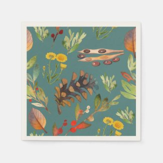 Autumn's Naturally Splendid Show Napkin