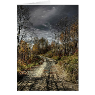 Autumns Road Greeting Card