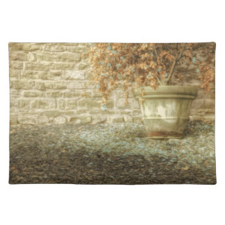 AUTUMN'S SOFT LUSTER Weathered Flower Pot Cloth Placemat