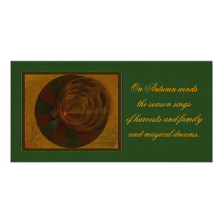 Autumn's Song Abstract Art Photo Greeting Card