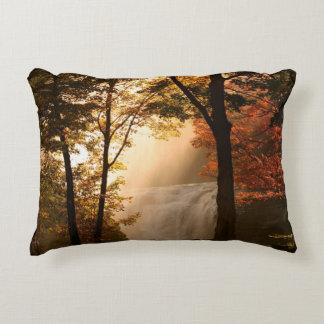 Autumns Waterfall Mist Accent Pillow
