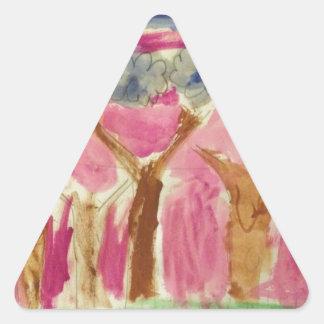 AutumnSunset.JPG Triangle Sticker