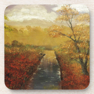"""Autum's Approach"" by Jack Lepper Beverage Coaster"