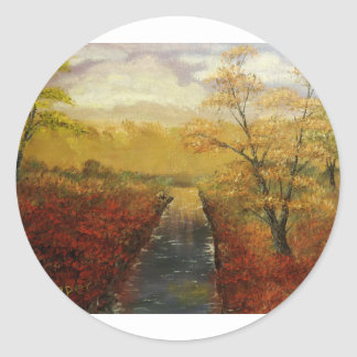 """Autum's Approach"" by Jack Lepper Classic Round Sticker"