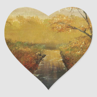 """Autum's Approach"" by Jack Lepper Heart Sticker"