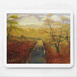"""""""Autum's Approach"""" by Jack Lepper Mouse Pad"""