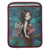 Autunm Owl Cute Gothic Fairy and Owl Fantasy Art iPad Sleeve