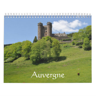 Auvergne France calendar 2016