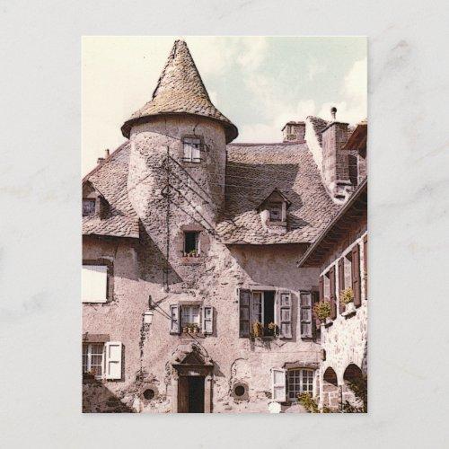Auvergne House Postcard postcard