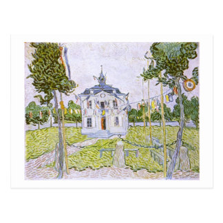 Auvers Town Hall 14 July 1890, Vincent van Gogh Post Card