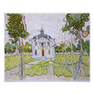 Auvers Town Hall 14 July 1890 Vincent van Gogh Poster