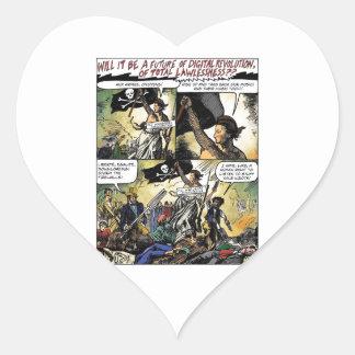 Aux Armes Digital Pirates Heart Sticker