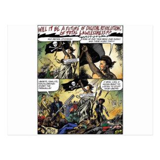 Aux Armes Digital Pirates Postcard