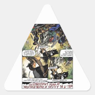 Aux Armes Digital Pirates Triangle Sticker