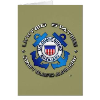 Auxiliar del guardacostas de los E.E.U.U. Tarjeta De Felicitación