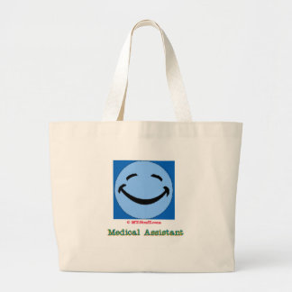 Auxiliar médico de la cara feliz bolsa de tela grande