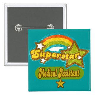 Auxiliar médico de la superestrella pin cuadrado