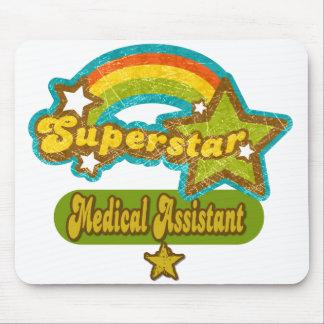 Auxiliar médico de la superestrella alfombrilla de ratón