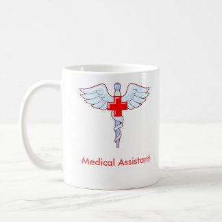 Auxiliar médico del caduceo taza