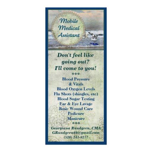 Auxiliar médico móvil tarjetas publicitarias personalizadas