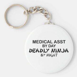 Auxiliar médico Ninja mortal Llavero Redondo Tipo Pin