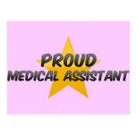 Auxiliar médico orgulloso tarjeta postal