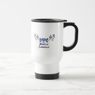 Auxiliar médico P Crossstitch Taza De Café