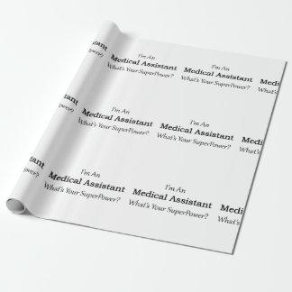 Auxiliar médico papel de regalo