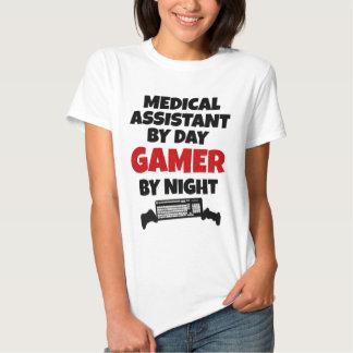 Auxiliar médico por videojugador del día por noche poleras