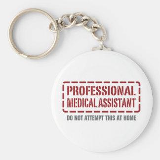 Auxiliar médico profesional llavero redondo tipo pin