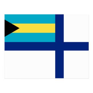 Auxiliary Ensign Of The Bahamas, Bahamas flag Postcard
