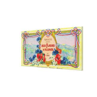 Auz Fleurs D' Alsace Soap LabelParis, France Canvas Print