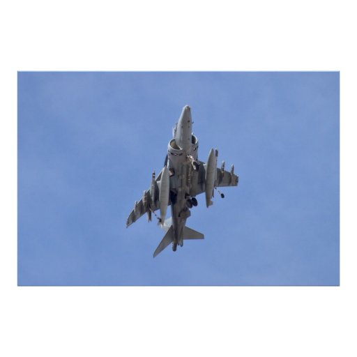 AV8B Harrier Belly Poster