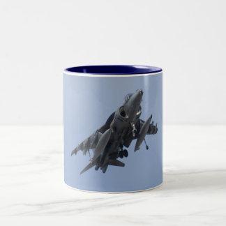 AV8B Harrier head On mug